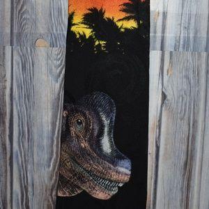 Jurassic Park Brachiosaur Silk Tie Necktie Vintage